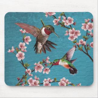 Vintage Art-Kolibri-Malerei Mousepad