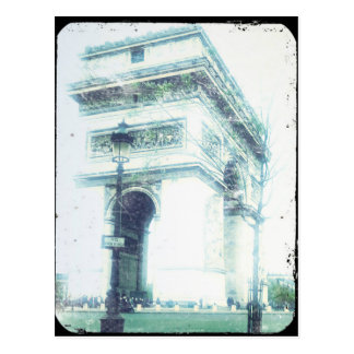 Vintage Art-Paris-Postkarte, der Arc de Triomphe Postkarte
