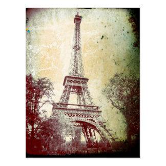 Vintage Art-Paris-Postkarte, der Eiffel-Turm Postkarte