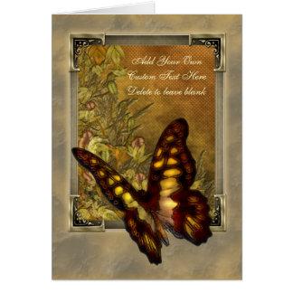Vintage Art-Schmetterlings-Illustration Karte