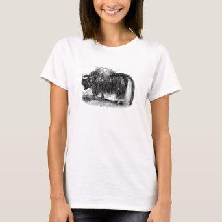 Vintage asiatische Yak-Retro Yak-Tier-Illustration T-Shirt