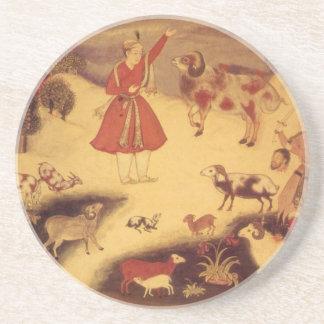 Vintage Astronomie, antike asiatische himmlische Sandstein Untersetzer