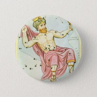 Vintage Astronomie, himmlische Cepheus Runder Button 5,7 Cm