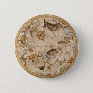 Vintage Astronomie, himmlische Runder Button 5,1 Cm