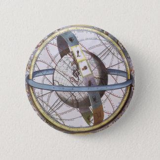 Vintage Astronomie, himmlischer Runder Button 5,1 Cm