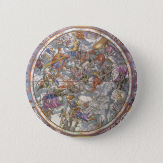Vintage Astronomie, Karte der christlichen Runder Button 5,1 Cm