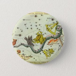 Vintage Astronomie, Runder Button 5,1 Cm