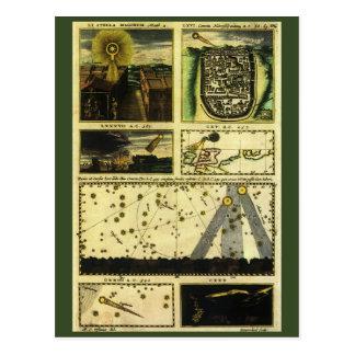 Vintage Astronomie, Stella Magorum, himmlische Postkarte