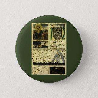 Vintage Astronomie, Stella Magorum, himmlische Runder Button 5,7 Cm