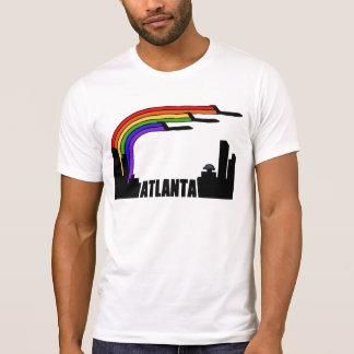 Vintage Atlanta-Flugzeuge über StadtSkyline T-Shirt