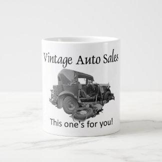 Vintage Auto-Verkäufe Jumbo-Tasse