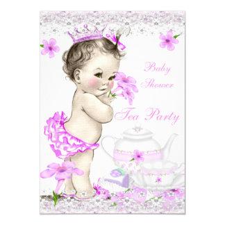 Vintage Baby-Duschen-Mädchen-Prinzessin Tea Party 12,7 X 17,8 Cm Einladungskarte