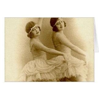 Vintage Ballerinen Karte