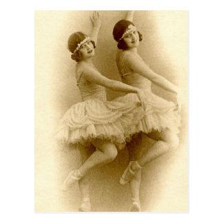 Vintage Ballerinen Postkarte