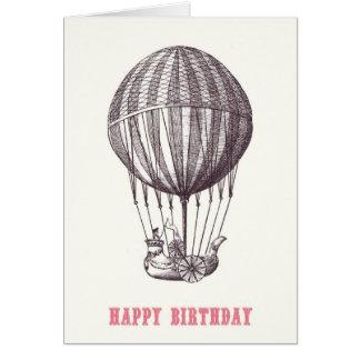 Vintage Ballon-alles- Gute zum Geburtstagkarte Karte