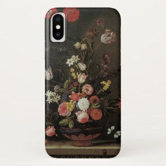 Vintage barocke Blumennoch Leben-Blumen im Vase iPhone X Hülle