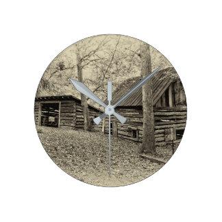 Vintage Bauernhof-Wand-Uhr Runde Wanduhr