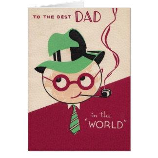 Vintage beste der Vatertags-Karte Vati- Karte
