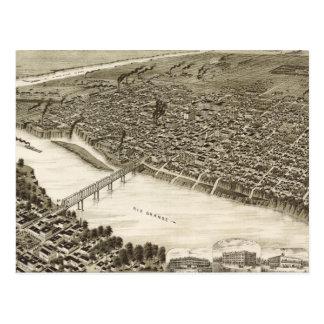 Vintage bildhafte Karte von Laredo Texas (1892)