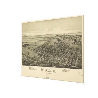 Vintage bildhafte Karte von McDonald PA (1897) Leinwanddruck