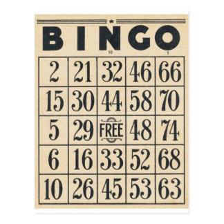 Vintage Bingo-Karte Postkarten