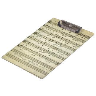 Vintage Blatt-Musik, antike musikalische Kerbe Klemmbrett
