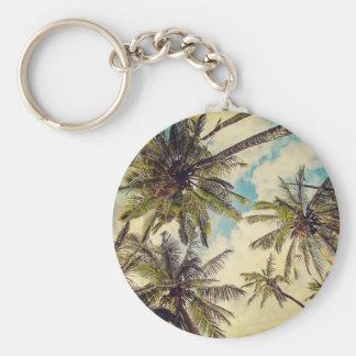 Vintage blaue Palme Hawaiis Kauai Keychain Schlüsselanhänger