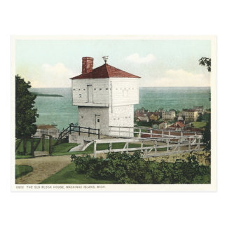 Vintage Block-Haus Mackinac Insel Michigan Postkarten