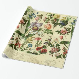 Vintage Blume Botanicals Geschenkpapier