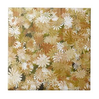 Vintage Blume Kleine Quadratische Fliese