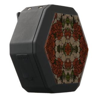 Vintage Blumen-abstraktes Muster Schwarze Bluetooth Lautsprecher