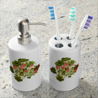 Vintage Blumen der Wissenschafts-NZ - Pelargonie Badezimmer-Set