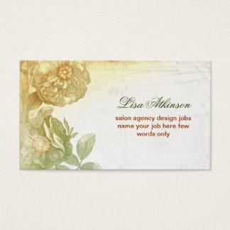 Vintage Blumen elegantes altes zeichnend und Visitenkarten