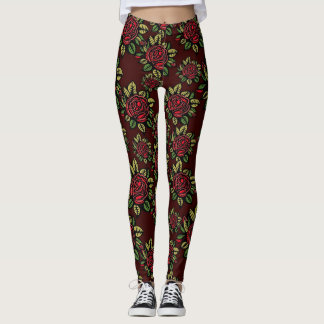 Vintage Blumen-Muster-Gamaschen Leggings