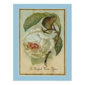 Vintage Blumen-neues Jahr Postkarte