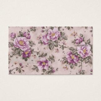 Vintage Blumen Visitenkarten