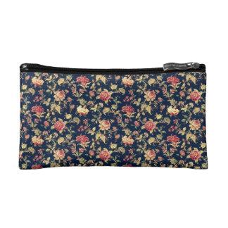 Vintage Blumendruck-Kosmetik-Tasche Kosmetiktasche