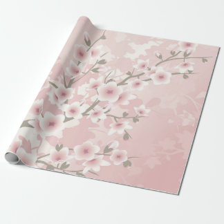 Vintage Blumenpastellkirschblüten Geschenkpapier