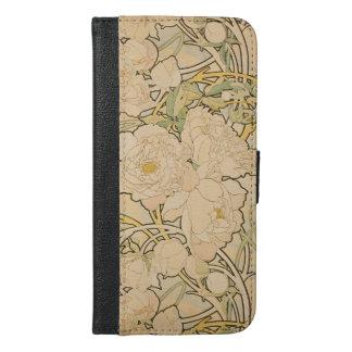 Vintage Blumenpfingstrosen GalleryHD alphonse iPhone 6/6s Plus Geldbeutel Hülle