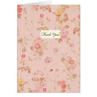 Vintage BlumenRose danken Ihnen Postkarte