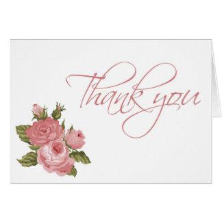 Vintage Blüten danken Ihnen zu kardieren Karte