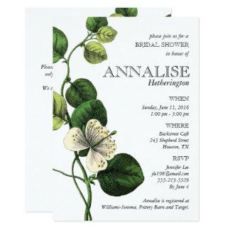 Vintage botanische Chic-Brautparty-Einladungen Karte