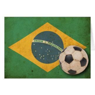 Vintage Brasilien-Flagge Karte