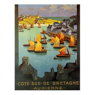 Vintage Bretagne, Audierne, Frankreich - Postkarte