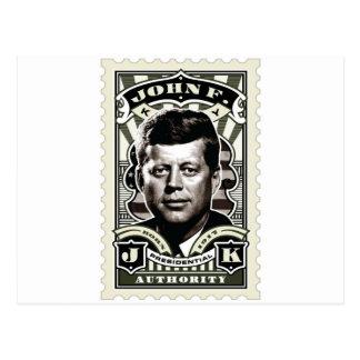 Vintage Briefmarken-Kunst John F. Kennedy Postkarte