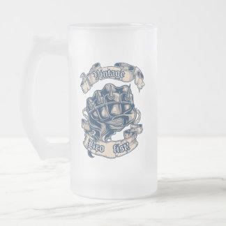 Vintage Bro Faust-Tasse Mattglas Bierglas