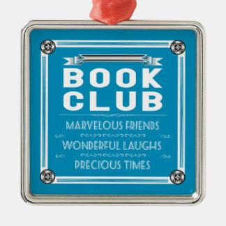 Vintage Buch-Verein-/Buch-Gruppe Silbernes Ornament
