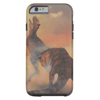 Vintage Carnotaurus-Dinosaurier, die im Dschungel Tough iPhone 6 Hülle
