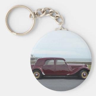 Vintage Citroen-Zugkraft Avant Standard Runder Schlüsselanhänger