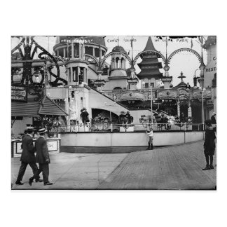 Vintage Coney-Insel-Fotografie Postkarte